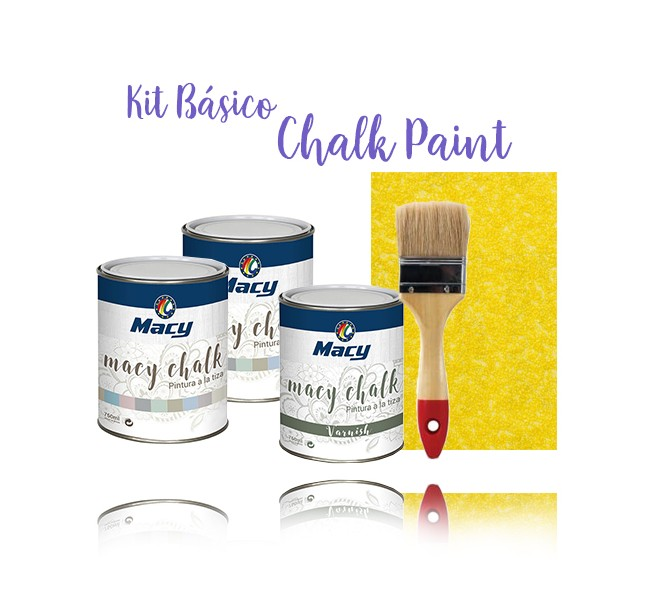 Kit Basico Pintura Chalk Paint colores