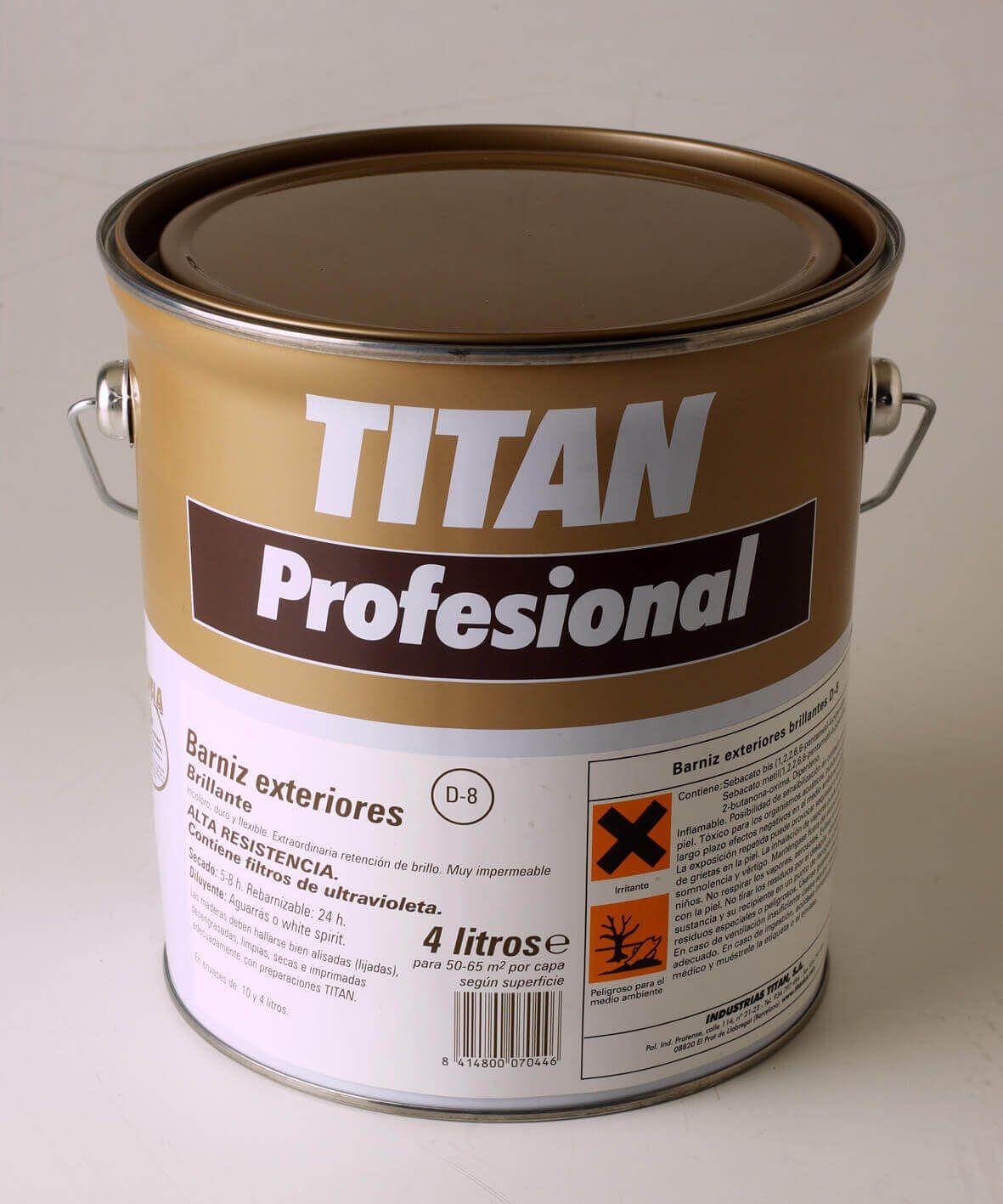 Barniz exteriores para madera titan compra online desde 6 - Barniz para pintura ...
