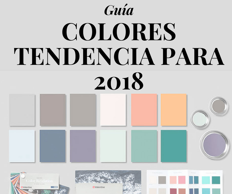 Los 12 colores que marcar n tendencia en 2018 en decoraci n for Colores pintura pared 2016