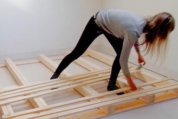cama palets construccion