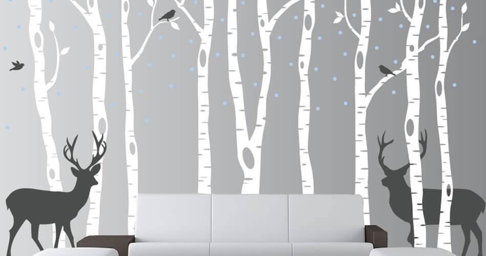 bosque vinilo decoracion vinyl