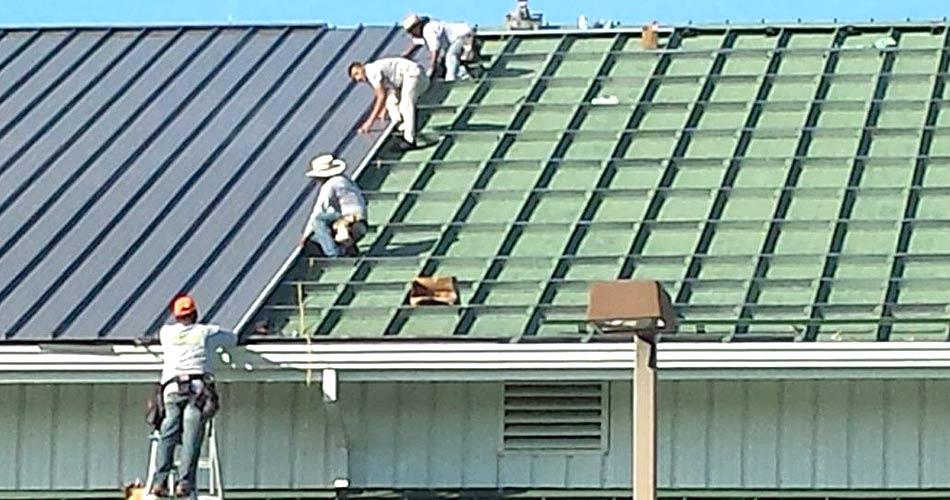 instalacion de techo de acero