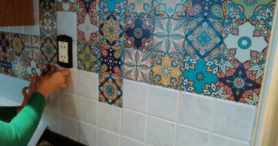 azulejos con vinilos decorativos cocina