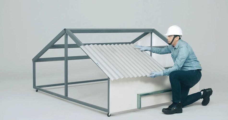 colocacion de techo de acero