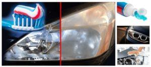 Como limpiar los faros del coche con pasta dental