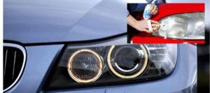 Como limpiar los faros del coche usando el kit de pulimento