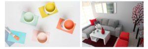 Gama de colores que amplian el espacio visualmente