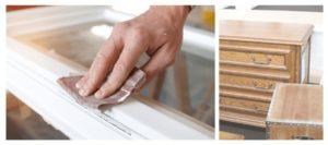 Herramientas y materiales para lacar un mueble