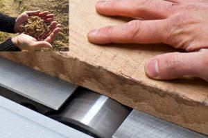 Lo primero es ajustar la madera según el grosor de la misma