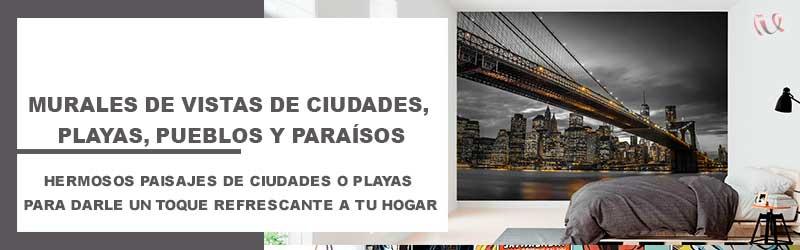 Murales-de-Vistas-de-Ciudades,-playas,-pueblos-y-paraisos