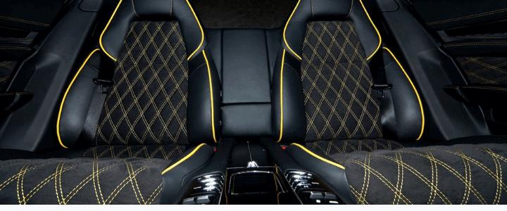 asientos de coche tapizados