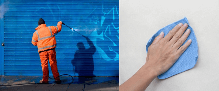 limpiar mural de pared