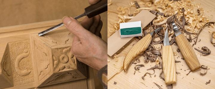 acabado de talla para madera