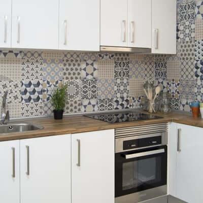 papel pintado cocina moderna