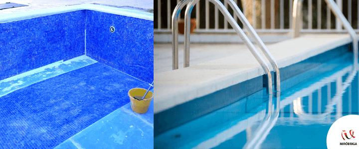 pintando la piscina