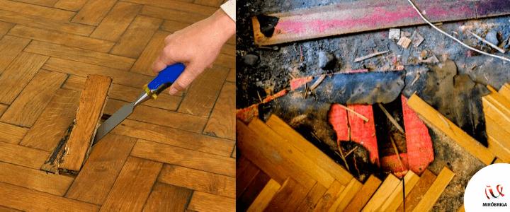 pasos para reparar parquet
