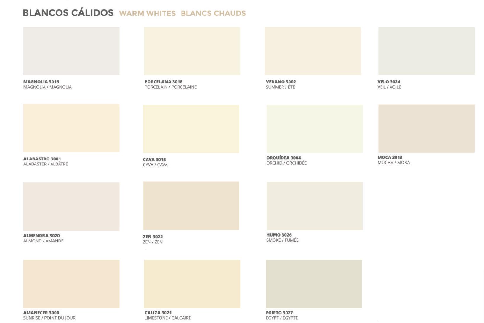Colores blanco roto
