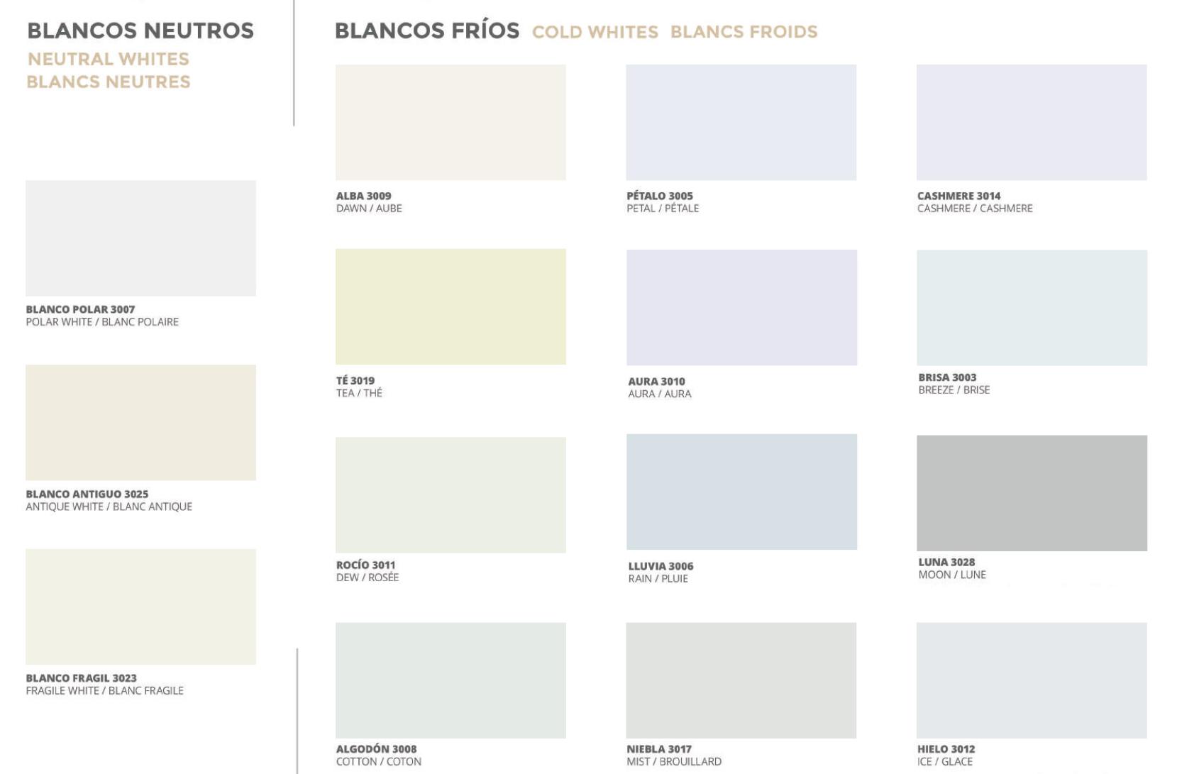 Colores Blanco cromatico